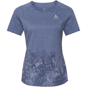 Odlo BL Millennium Element SS Top Crew Neck Damer, blue indigo melange-blackcomb